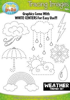 Weather Tracing Image Clipart {Zip-A-Dee-Doo-Dah Designs}
