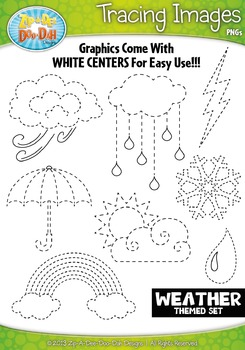 Weather Tracing Image Clipart Set — Includes 15 Graphics!