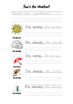 Weather Tracing and Handwriting
