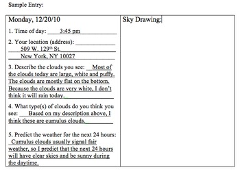 Weather Tracking & Prediction, Cloud Types Projects -research, graphing, writing