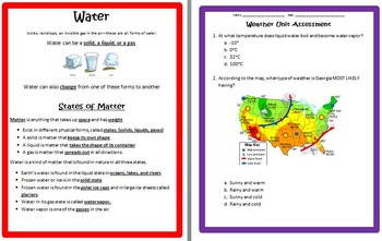 Weather UNIT 4th Grade Science