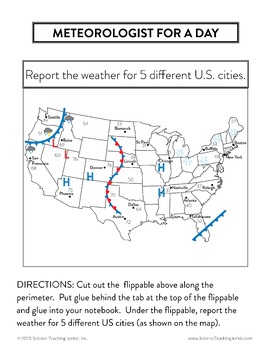 Weather Unit 3 Weather Maps Air Masses And Fronts Tpt - Us-front-map