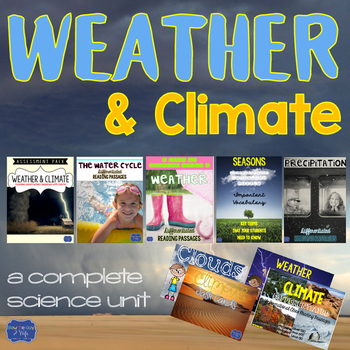 Weather Unit Activities & Assessments