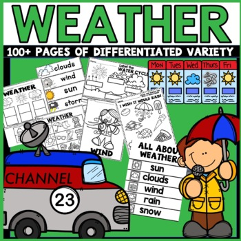 Weather Unit Activities *First Day Special