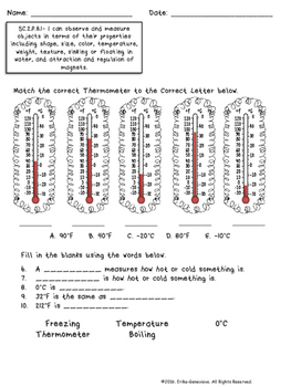 Weather Unit Assessments- 2nd Grade