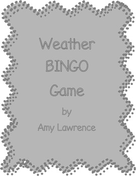 Weather Unit Bingo Game