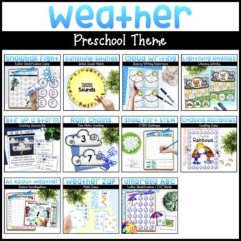 Weather Preschool Bundle | Math & Literacy Activities