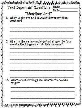 Unit 3 text questions