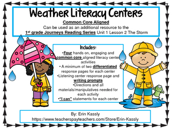 Weather Unit Common Core Literacy Centers - The Storm