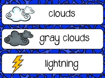 Weather Unit- English Language and Math Activities