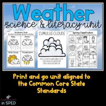 Weather Unit: For Special Education Students and Classrooms