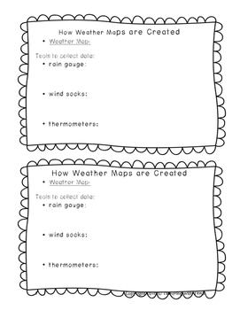 4th Grade Weather - Weather Recording Tools