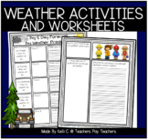 Weather Unit Includes Science, Writing, Math, Vocabulary for ESL and much more!