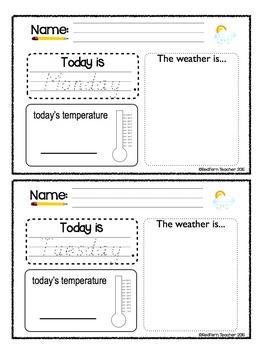 Weather Unit - Kindergarten First Grade