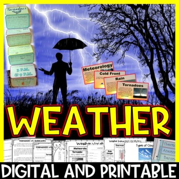Weather Unit Pack: Interactive Notebook, Editable PowerPoi