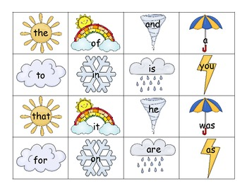 Weather Unit Reading and Math