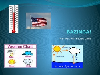 Weather Unit Review Game