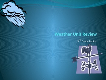 Weather Unit Review PPT
