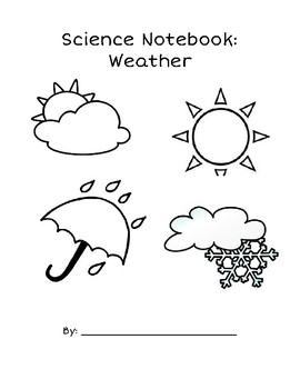 Weather Unit Science Notebook