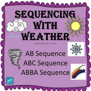 Pre-K Weather Unit Sequencing/Patterning Special Education