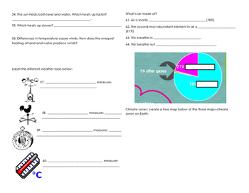 Weather Unit Study Guide