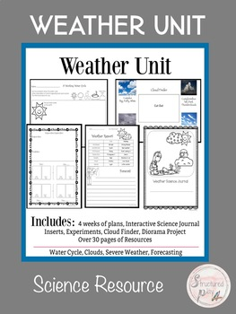 Weather Unit- Water Cycle, Clouds, Severe Weather, Weather Forecasting