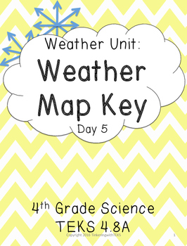 4th Grade Weather - Reading Weather Map Keys