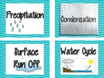 Weather Unit Word Wall Vocabulary