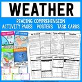 Weather Science Unit - Reading Passages, Activities, Poste