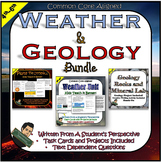 Weather Unit and Geology Unit with Rocks Project