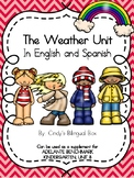 Weather Unit for Kindergarten in English and Spanish