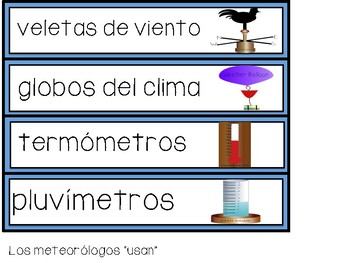 Weather Unit in Spanish