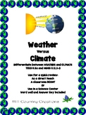 Weather Versus Climate --STAAR Grade 5 and NGSS