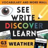 Weather Visual Vocabulary and Word Wall - NGSS Grade 3