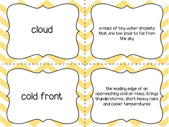 Weather Vocab Matching Game