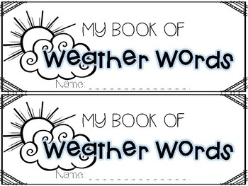 Weather Vocabulary Booklet