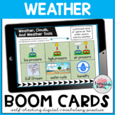Weather Vocabulary Boom Cards (Weather, Weather Tools, and