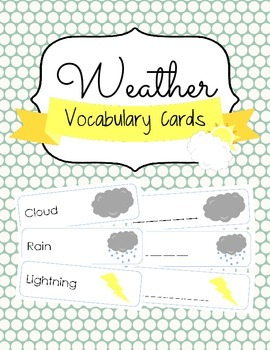 Weather Vocabulary Cards and Spelling Practice