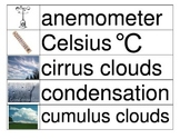 Weather Vocabulary Cards (1/2)