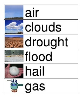 Weather Vocabulary Cards (2/2)