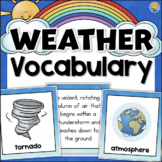 Weather Vocabulary Cards - Game