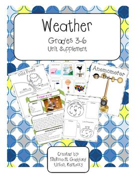 Weather : Vocabulary Cards, Posters, Student Activities, Experiments, and more!