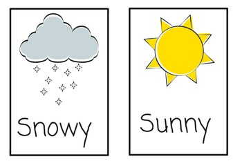 Weather Vocabulary Cards (color)