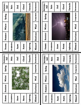 Weather Vocabulary Clip Cards