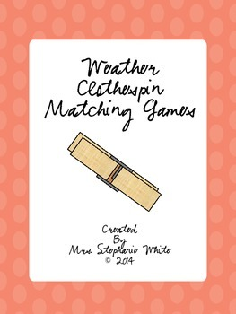 Weather Vocabulary Clothespin Matching Games