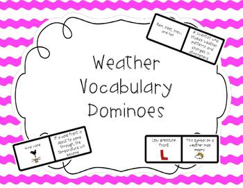 Weather Vocabulary Dominoes