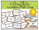 Weather Vocabulary Flash Cards