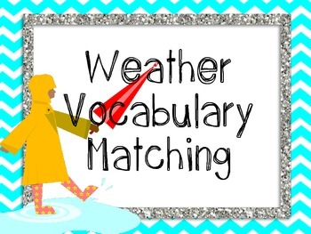 Weather Vocabulary {Flash Cards, Memory or Matching Cards}