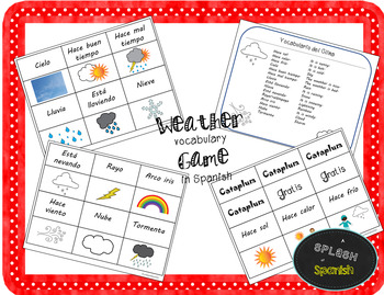Weather Vocabulary Game in Spanish