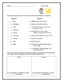 Weather Vocabulary--Hot and Cold